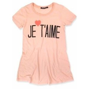 WILDFOX Je T'aime Top •S• French Pink Tee Shirt